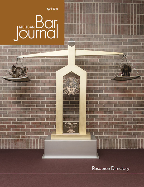 The cover of Michigan Bar Journal