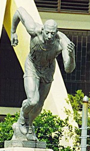 Athlete, at National Stadium, Jamaica