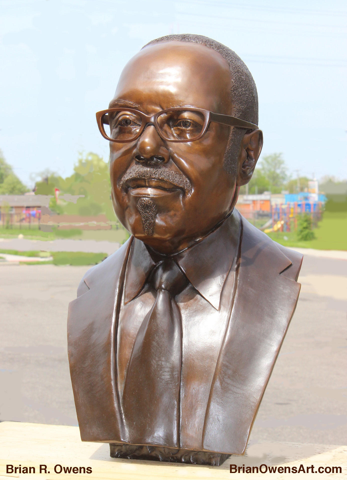 Bust of Dr. Charles G. Adams, Quarter View