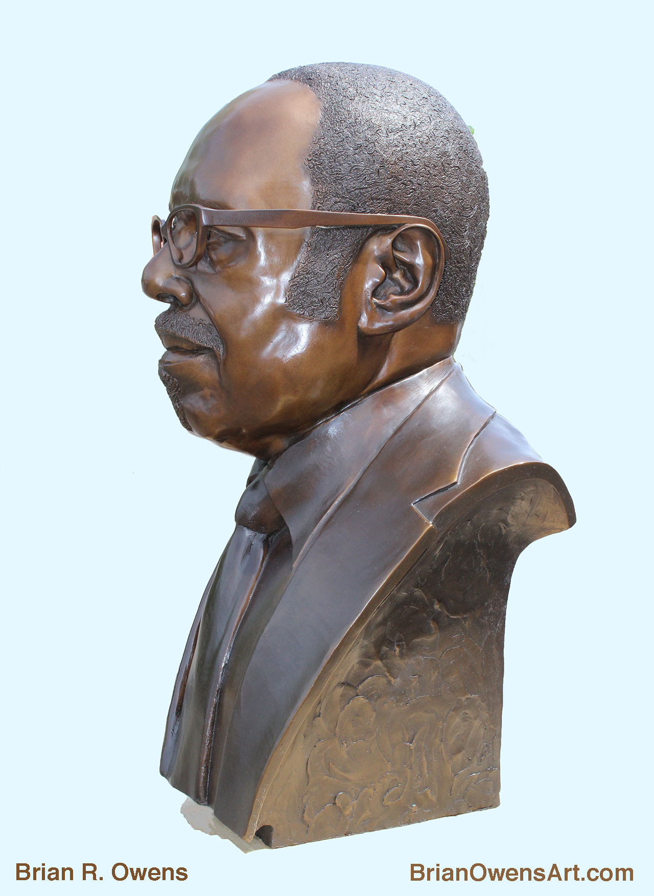 Bust of Dr. Charles G. Adams, Side View