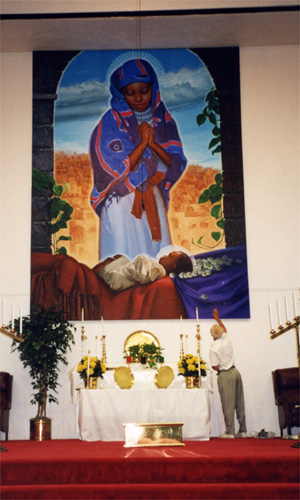 A mural by African-American artist C. Owens